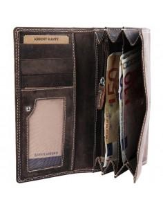 Accent női pénztárca valódi bőrből - BARNA - 495710957002