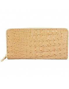 Nagyméretű bézs színű női pénztárca - Méret 20 x 10 cm - 494073752002