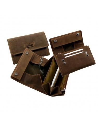 Valódi bőr pénztárca - Purse / OLD-SCHOOL- Landleder - 1053-25