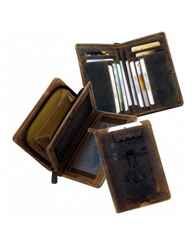 Vitruvian Man mintás bőr pénztárca - LandLeder - 269