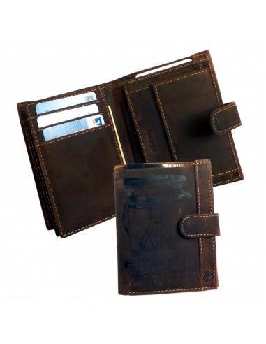 Vitruvian Man logós bőr pénztárca - Scot - LandLeder - 243