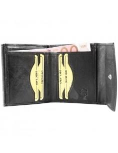 Hárombahajtott patentos valódi bőr pénztárca - P495340010011