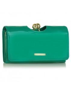 Női lakk pénztárca - SMARAGD