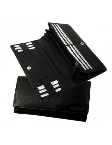 LandLeder nagyméretű pénztárca - 19x10 cm - FEKETE - 0180-20