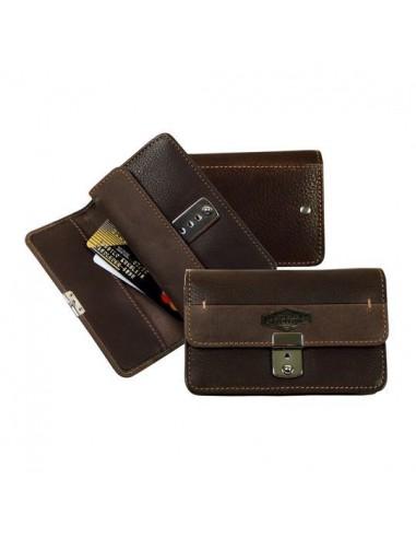 La Borsa pénztárca fémzárral - Barna - 12,5x7,5x4 cm - LandLeder - 983-25