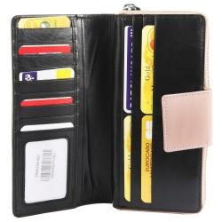 Leonardo Verrelli nagyméretû nõi pénztárca - 19x9 cm - FEKETE-BÉZS - 3000134-001