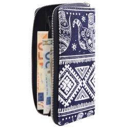 Nagyméretû nõi pénztárca - 20x10 cm - ELEFÁNT MINTÁS - 3010024-001