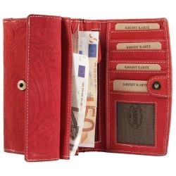 Akzent nagyméretû nõi pénztárca - 16x10 cm - PIROS - 3000076-002