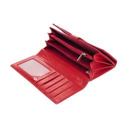 Pierre Cardin valódi bõr piros pénztárca - 18.5 x 10 cm - 01LINE102