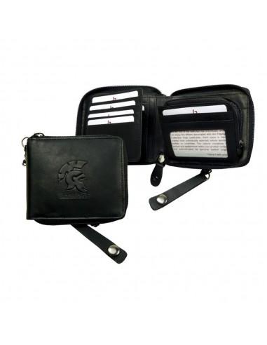 LandLeder körbe cipzáros bőr pénztárca - 13x11 cm - 994