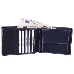 Akzent valódi bőr pénztárca - 12x10 cm - KÉK - 495837503103