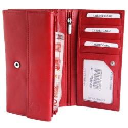 Akzent nagyméretű női pénztárca - 17x9 cm - PIROS - 495069551007