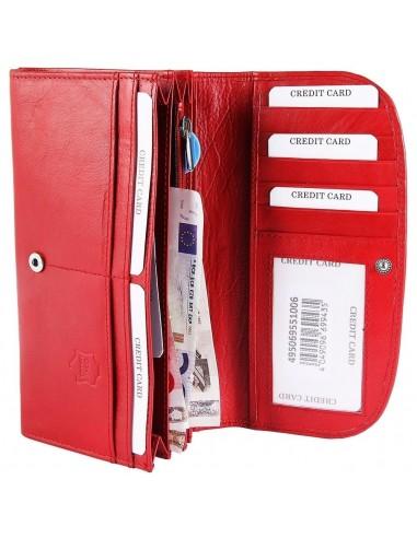 Akzent nagyméretű női pénztárca - 19x10 cm - PIROS - 495069551006