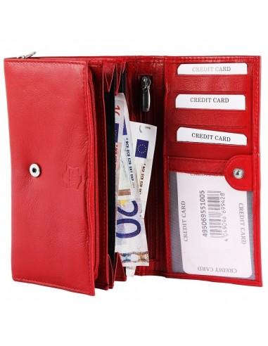 Akzent nagyméretű női pénztárca - 17x10 cm - PIROS - 495069551005