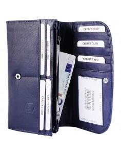 Akzent nagyméretű női pénztárca - 19x10 cm - KÉK - 495069530006