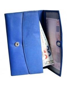 Excellanc nagyméretű női pénztárca - 16x9 cm - KÉK - 495035030060