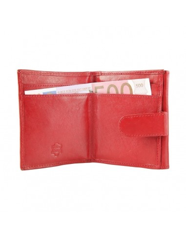Akzent valódi bőr pénztárca - 11x9 cm - PIROS - 49502501010