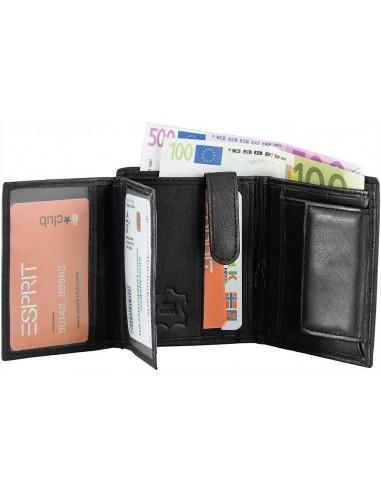 Monopol valódi bőr pénztárca - FEKETE - 495030010186