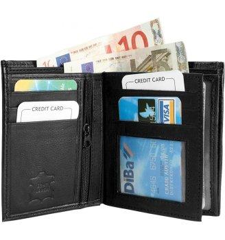 Félbehajtott bőr pénztárca
