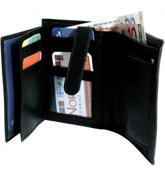 Háromba hajtott bőr pénztárca